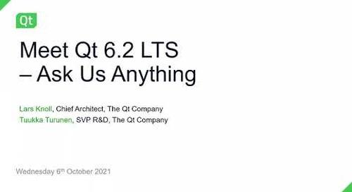 Meet Qt 6.2 LTS – Ask us anything! {On-demand webinar}