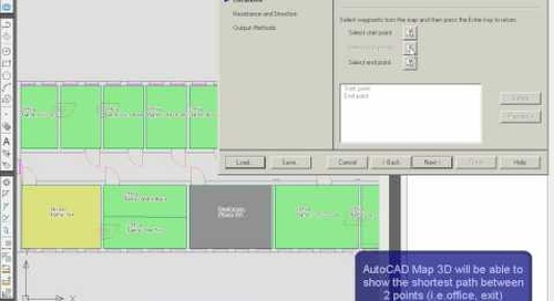Network Routing in AutoCAD Map 3D