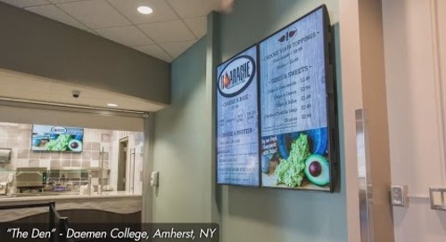 impulseGUIDE Digital Signage at Daemen College