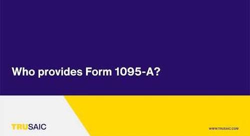 Who provides Form 1095-A? - Trusaic Webinar