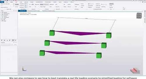 Tekla Structural Designer 2020 - Load analysis view