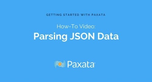 Parsing JSON Data with Paxata Self-Service Data Prep