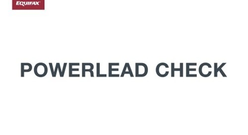 PowerLead Check Demo