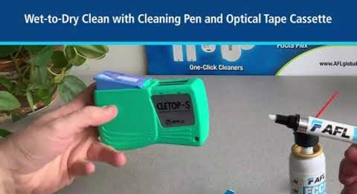 Dry and Wet-to-Dry Cleaning of Optical Connectors