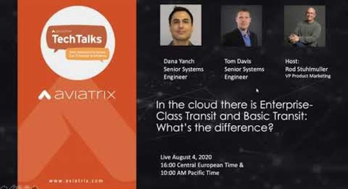 TechTalk | In the cloud there is Enterprise-Class Transit and Basic Transit: What's the difference?