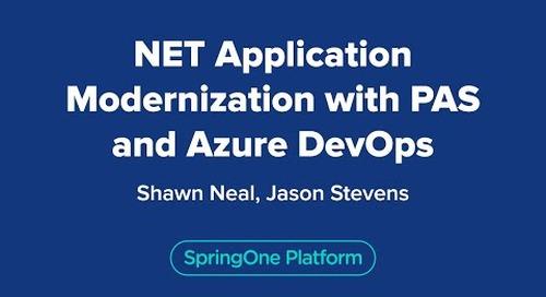 .NET Application Modernization with PAS and Azure DevOps
