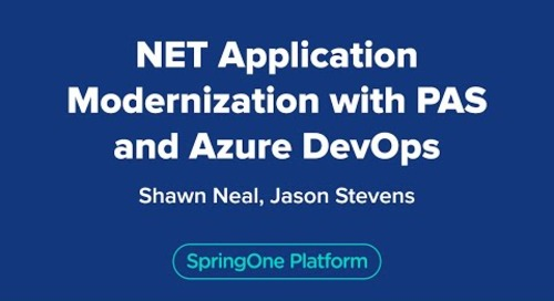 .NET Application Modernization with VMware Tanzu Application Service for Kubernetes and Azure DevOps