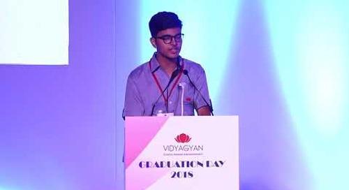 Ayush, Student of VidyaGyan Sitapur | VidyaGyan Graduation Day 2018