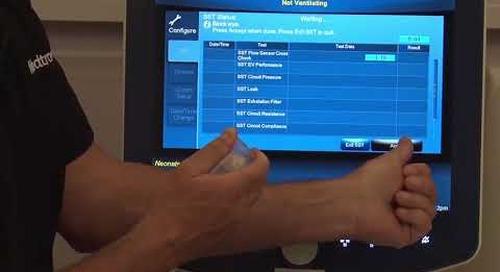 Puritan Bennett 980 Ventilator - Short Self Test - Neonatal