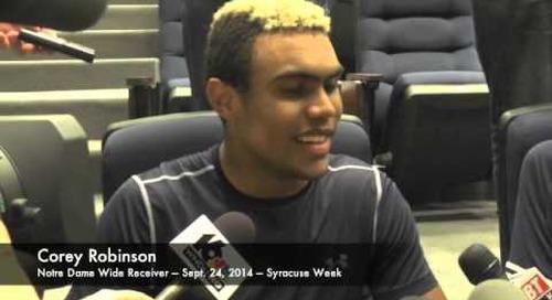 Notre Dame WR Corey Robinson - 9/24/14 - Syracuse