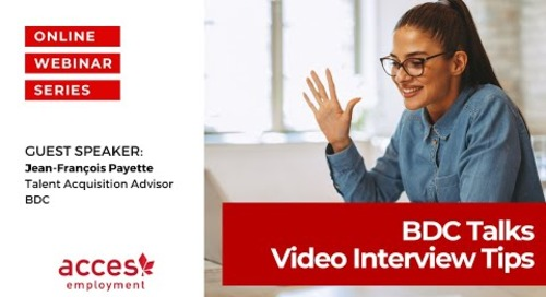 BDC Talks: Video Interview Tips