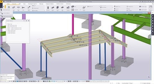 Efficiency Tools: Undo History, Work Plane Handler and Select Previous Objects in Tekla Structures