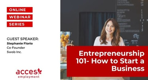 Entrepreneurship 101 - How to Start a Business!