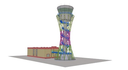 Tekla BIM Awards France 2020 : DL ATLANTIQUE - Tour de contrôle Aéroport à Douchanbé Tadjikistan
