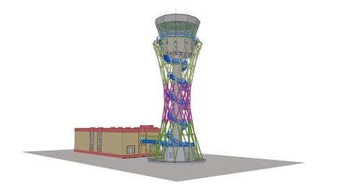 Tekla BIM Awards France 2020 : DL ATLANTIQUE - Tour de contrôle Aéroport à Douchanbé Tadjikistan
