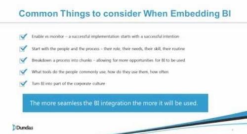 The Fundamentals of Embedded BI Webinar