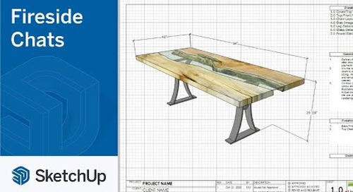 SketchUp for Woodworking - Katie Mcilveen | The Fireside Chat Series Season 1 Ep. 6