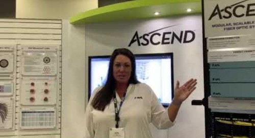 Lindsey at BICSI talking Ascend. Come by booth #6628.