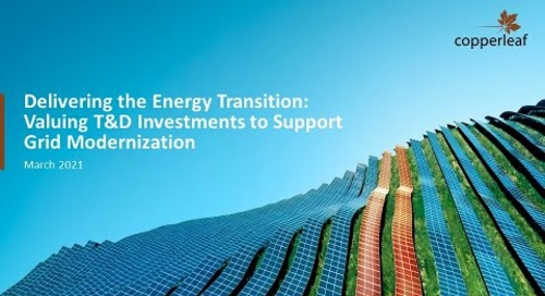 Webinar: Delivering the Energy Transition - Valuing T&D Investments to Support Grid Modernization