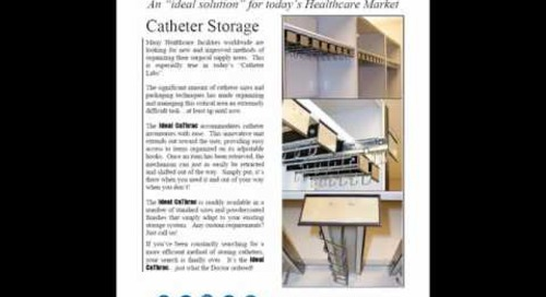 Catheter Storage Shelving Solutions For Hospital Sterile Core