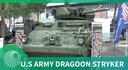 Latest US Army Stryker armed with 30 mm cannon in Kongsberg remote controlled turret