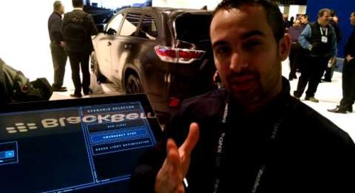 QNX Platform for ADAS shows V2X-based emergency stop at CES 2016
