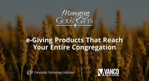 e-Giving Products That Reach Your Entire Congregation