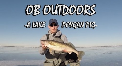 BIG Lake Poygan Walleye (While Ice Fishing) - OB Outdoors