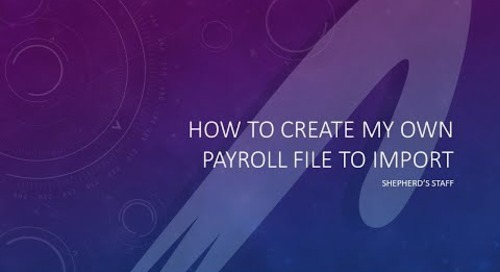 Import a Generic Payroll file