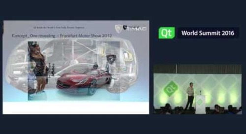 QtWS16- Inspiration Spotlight: World's Fastest Electric Supercar Built with Qt, Goran Hacek, Rimac