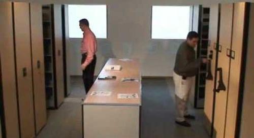 Movable shelving file cabinets hand crank vs motorized mobile shelves