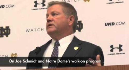 Notre Dame's Brian Kelly - 9/30/14 - Stanford