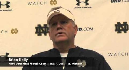 Notre Dame's Brian Kelly Prior To Michigan