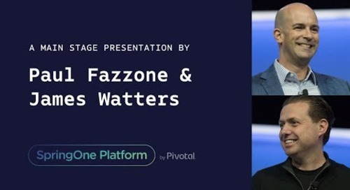 James Watters, Pivotal and Paul Fazzone, VMware at SpringOne Platform 2017