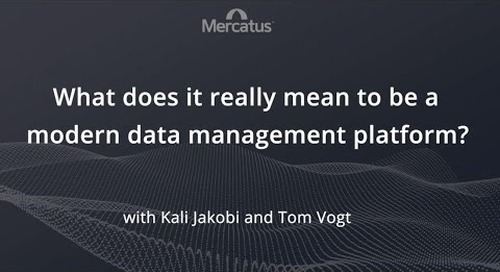 Modern Data Management...What does that mean?