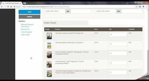 Travel Manitoba Partner Extranet 4.0 - Materials Requests