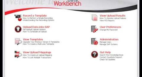 Simple 3-step process for SAP data uploads with Quadrate ERP2 software
