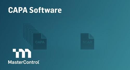 Demo: MasterControl CAPA Software