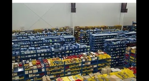 Automated Vertical Parts Storage Case Study Replacing Shelving Plastic Bins
