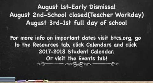Bristol TN City Schools-1st Day