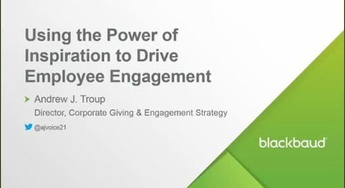 Webinar: Using the Power of Inspiration to Drive Employee Engagement
