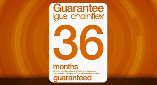 How igus® can guarantee flexible cables will last for 36 months.