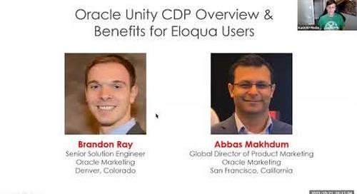 Oracle Eloqua User Group (Virtual) - October 2021