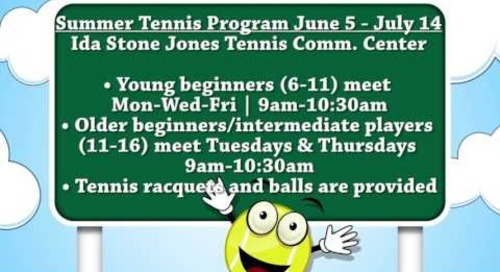 2017 Summer Tennis Program!