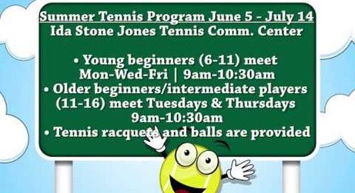 2017 Summer Tennis Program!