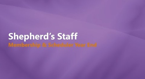Shepherd's Staff: Membership and Scheduler Year-end Process