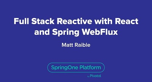 Full Stack Reactive with React and Spring WebFlux