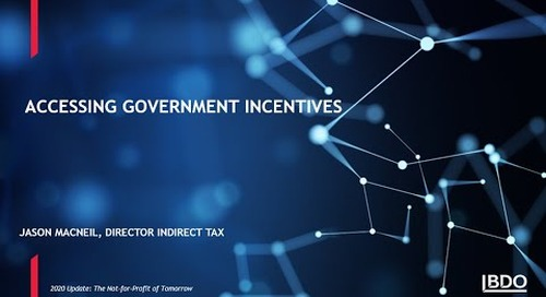 How to access government incentives | BDO Canada