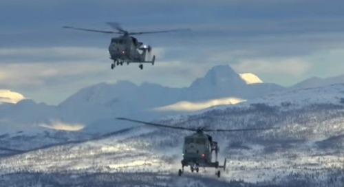 First deployment of the AgustaWestland Wildcat AH.1 Battlefield Reconnaissance Helicopter to Norway