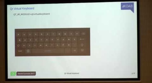 QtWS17 - Using Virtual Keyboards on Qt Embedded Devices, Jan Arne Petersen, KDAB